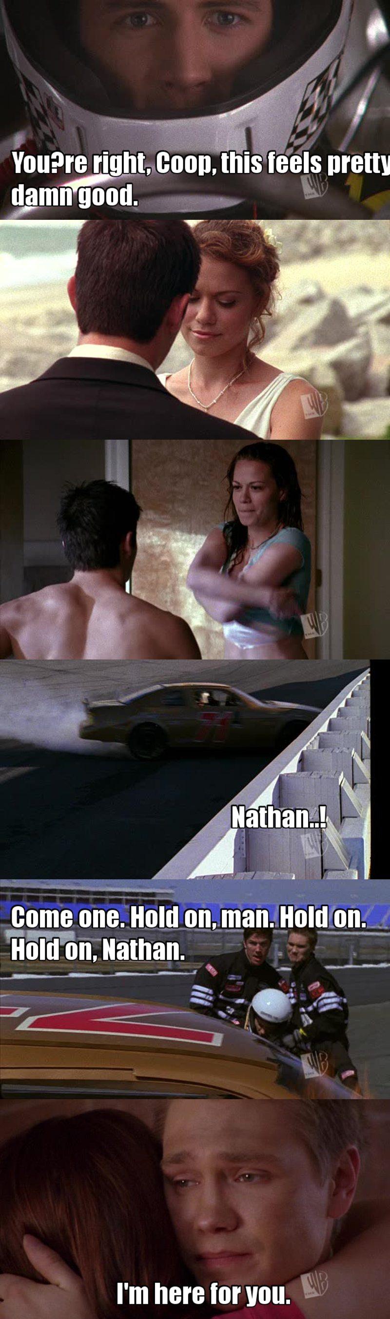 """""""-On va voir si j'oublie mes problèmes en roulant à 200km/h."""" Aww cette scène me fait toujours pleuré, avec les flash back et tout 😭   Lucas me fait trop de la peine.."""