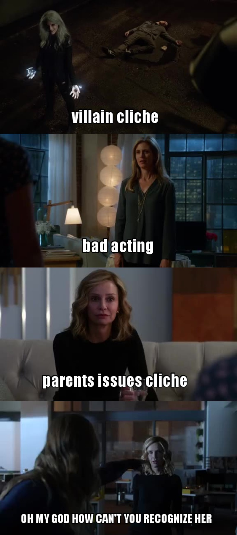 This tv-show has good things, a powerful character, good special effects, and a acceptable storyline.. But COME ON, there are too many flaws ! So many cliches, and bad acting, and OH MY GOD HOW CAN'T CAT RECOGNIZE KARA ? It's pity, I really think it could be better than this.