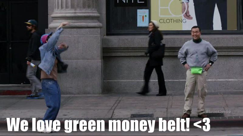 Full Boyle! Very funny! Green money belt!