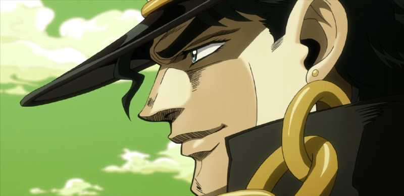 You know you're cool when you make a man like jotaro smile