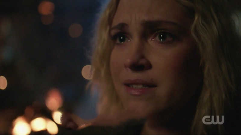 That tears in her eyes when she found out Bellamy is alive