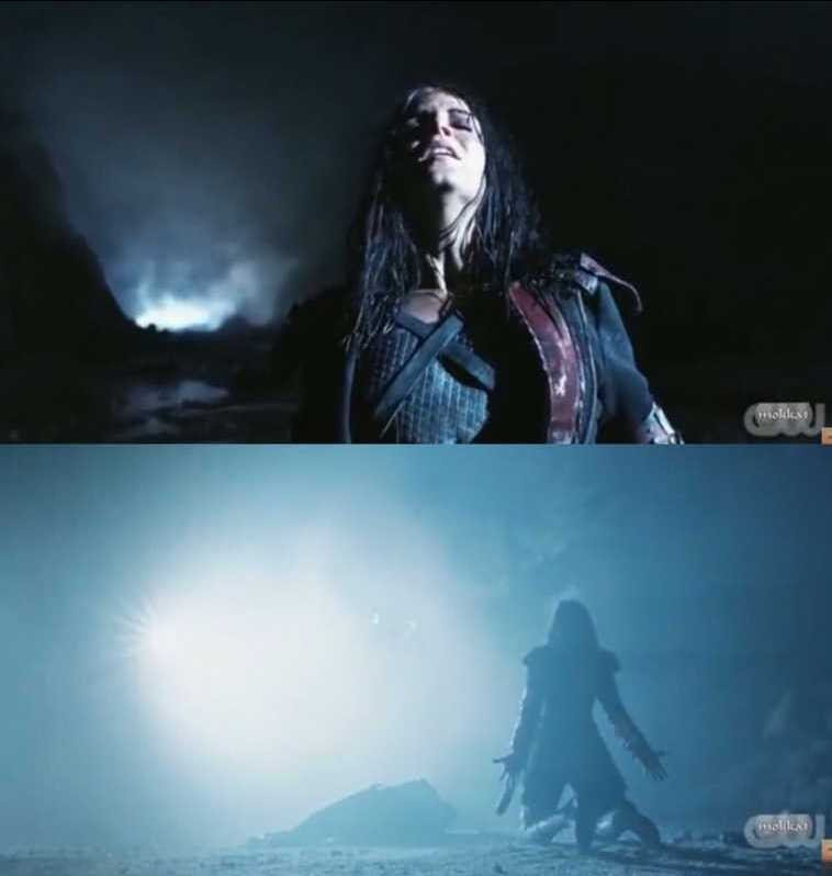 Days ago she was willing to kill Indra, Gaia and Bellamy by sending them in the arena and now she's willing to die to save their lives !  WELCOME BACK OCTAVIA 🎉