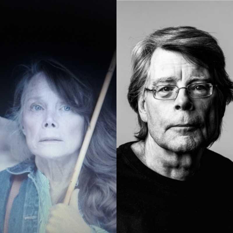 """Chocada com a semelhança dessa atriz com o Stephen King!!! 😱😱😱 Toda vez que ela aparecia eu só conseguia pensar: """"Olha lá o senhor King de peruca participando da adaptação do seu próprio livro"""" kkkkkkjk"""