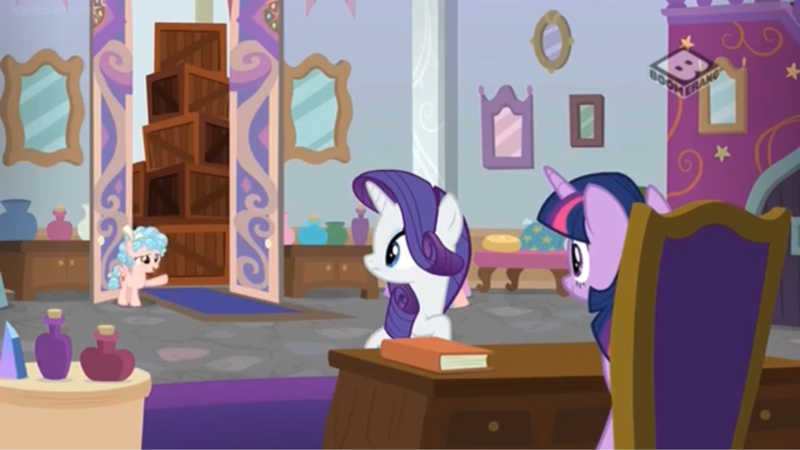 I don't know why she gave Flim and Flam Twilights lesson plan, but it was her! Little evil filly