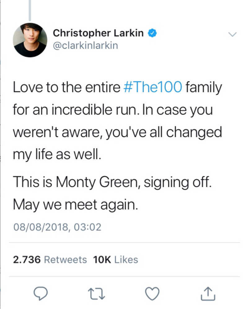 We'll miss you, Monty Green 😟