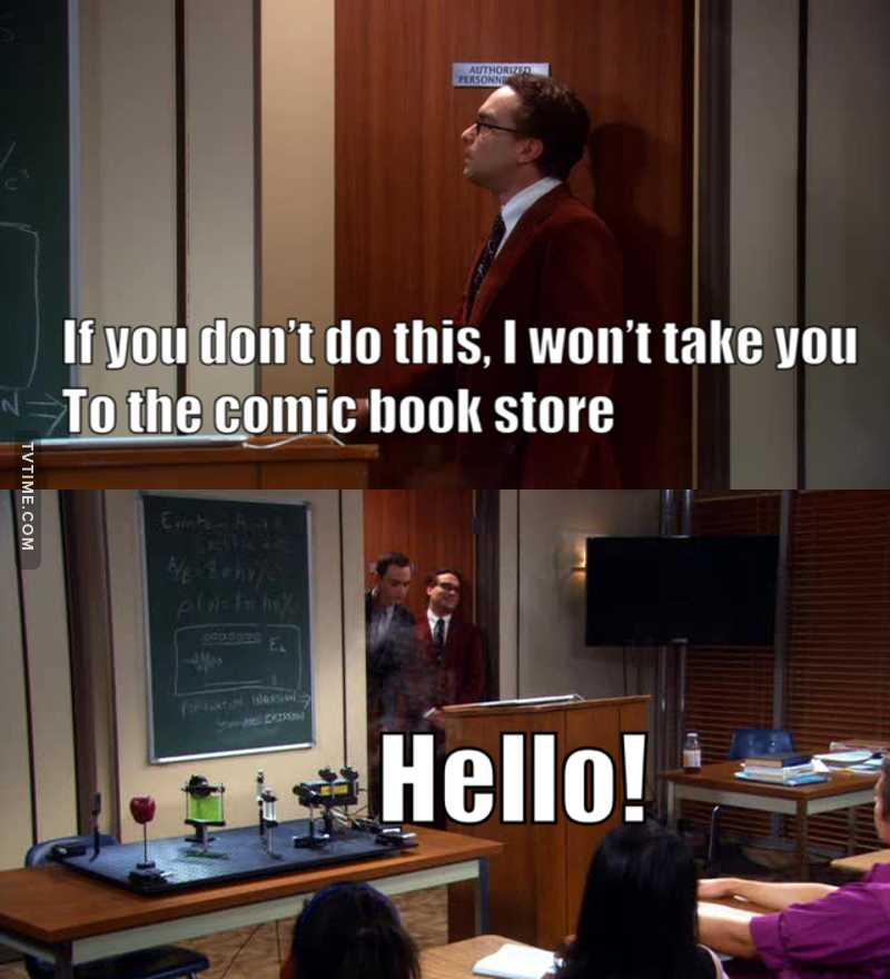 I love it when Leonard acts like Sheldon's father 😂❤️