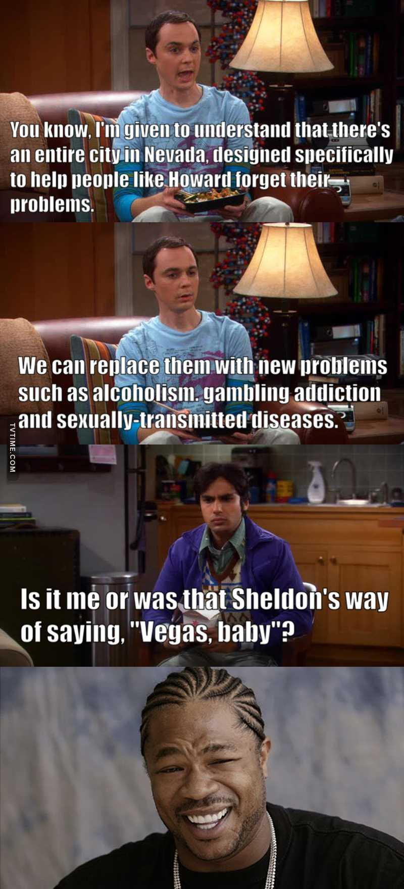 Sheldon's way of saying Vegas Baby is the best 😂❤️