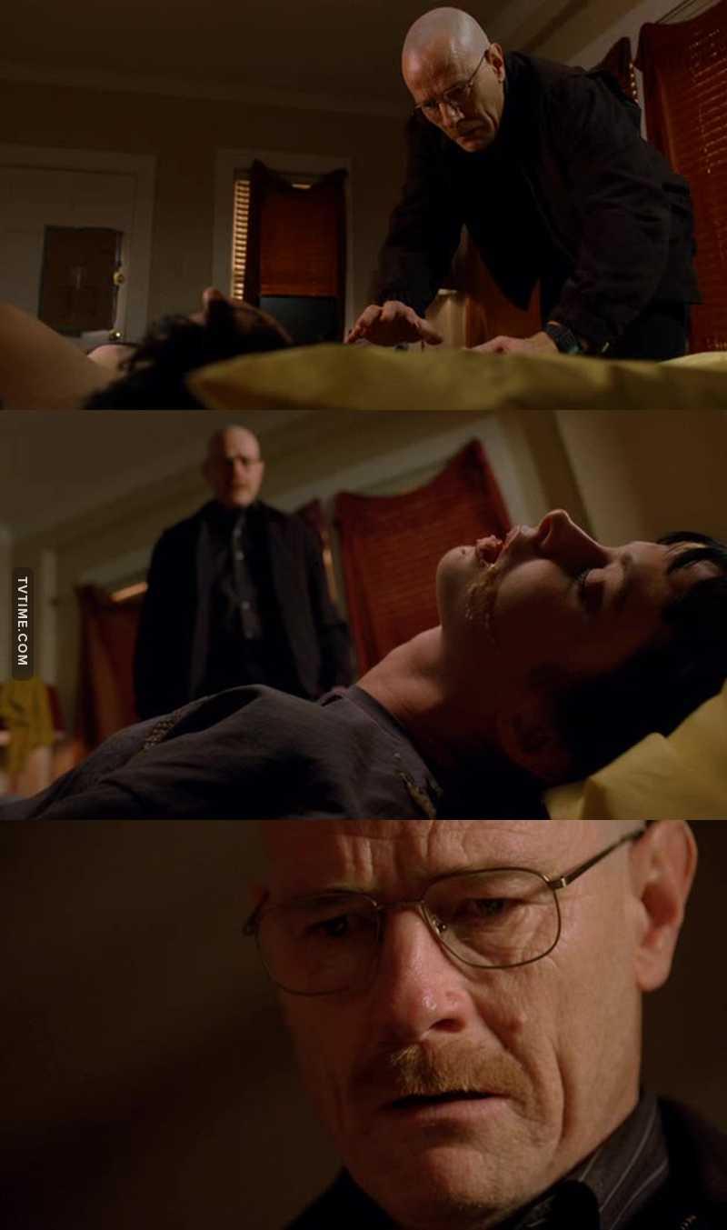 For me in this scene Walter White became Heisenberg.