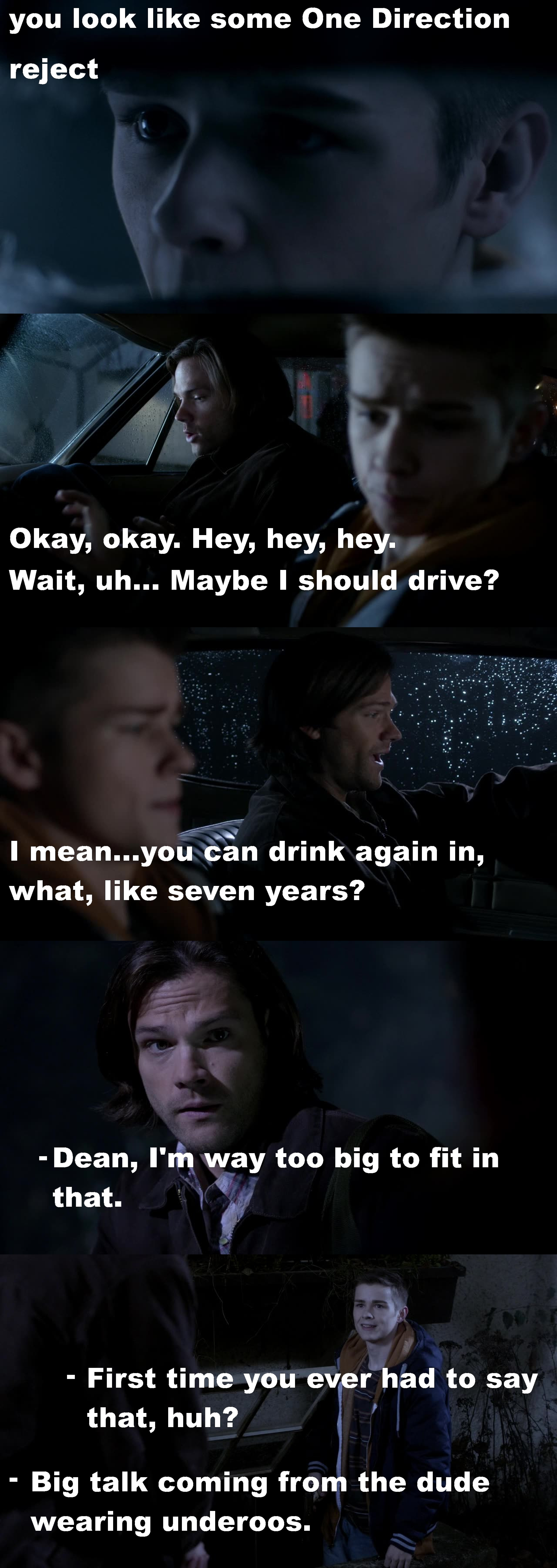 This episode was freakin hilarious! There were so many fun moments that it's hard to pic a favorite. Dylan Everett once again played Dean perfectly! And Jareds faces/Sams reaction were so fun to watch. Definitely one of my favorite episodes. So what's next, gender swap?! ;)