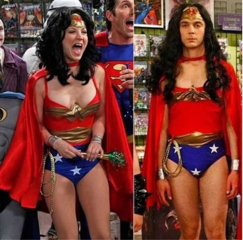 Sorry Penny, but Sheldon will always be my favorite Wonder Woman ever 😂😂😂❤️❤️
