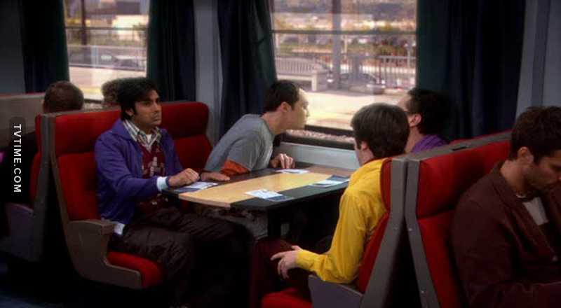 Sheldon ans Trains. A great love story.