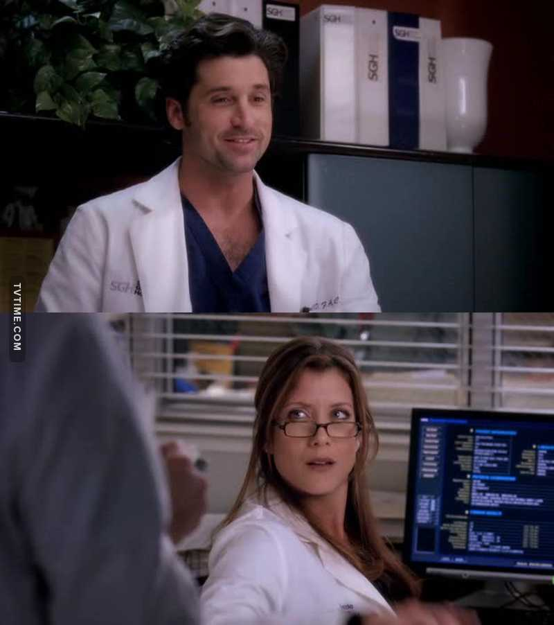 """""""Heeey! Good morning, Addison!""""  """"What's that supposed to mean?""""   😂😂😂"""