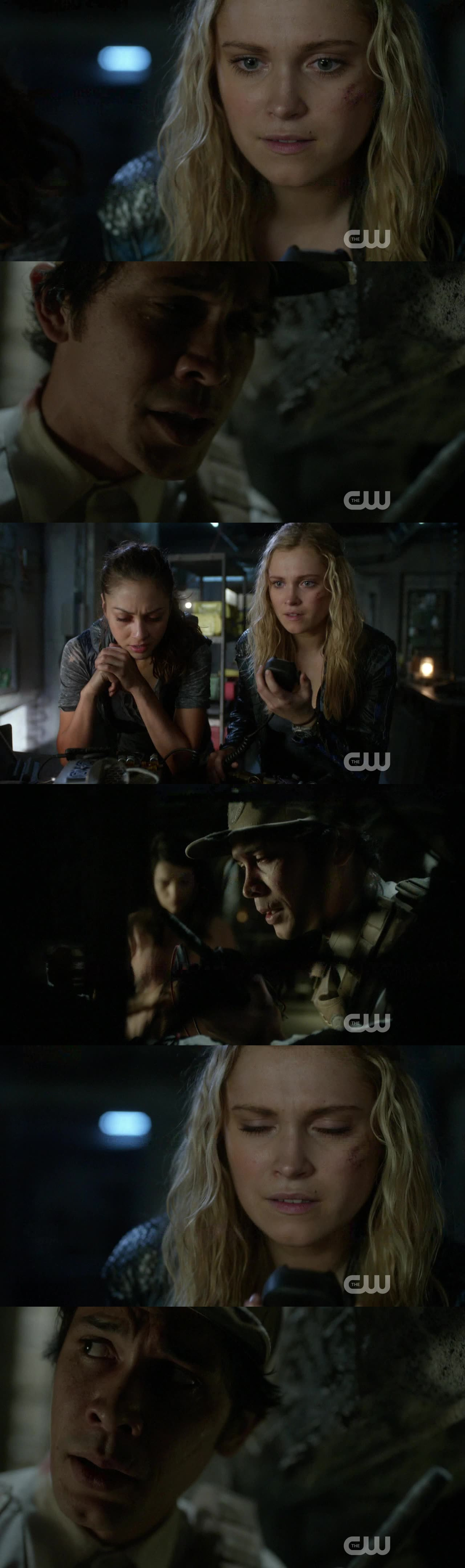 I LOVED THAT SCENE SO MUCH !!!! Their faves when they heard each other's voices... #Bellarke *.*