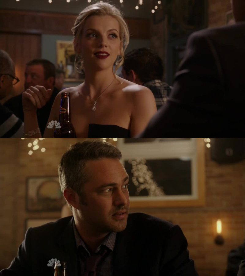 Sylvie and Otis ! oh come on ... she is way to hot for him ! I want Brett & Severide :)