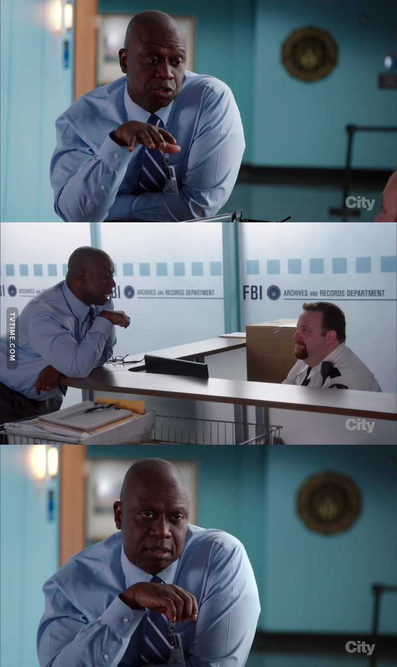 Captain Holt talking about Sex and the City is the best thing ever 💖