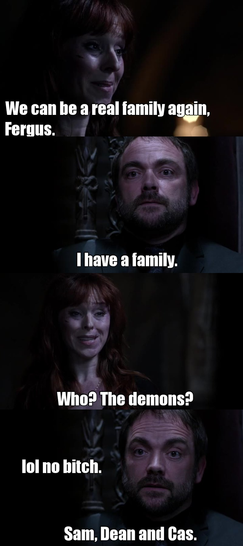 This is probably what Crowley really thought when he said he has a family.