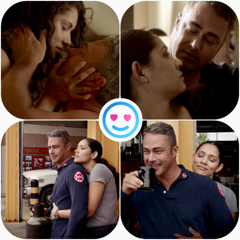 Hope they stay together. They make a great couple. Glad to see my Chicago shows back on Good episode .❤️❤️👨🏼‍🚒👩🏻‍🚒