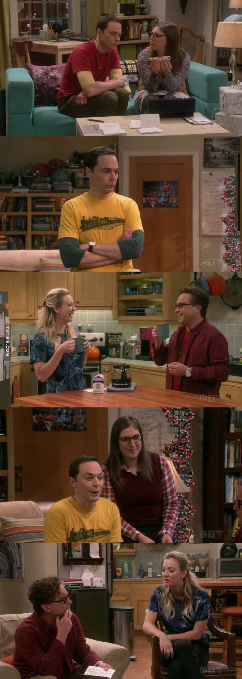 Penny and Leonard were so devilish and playful...