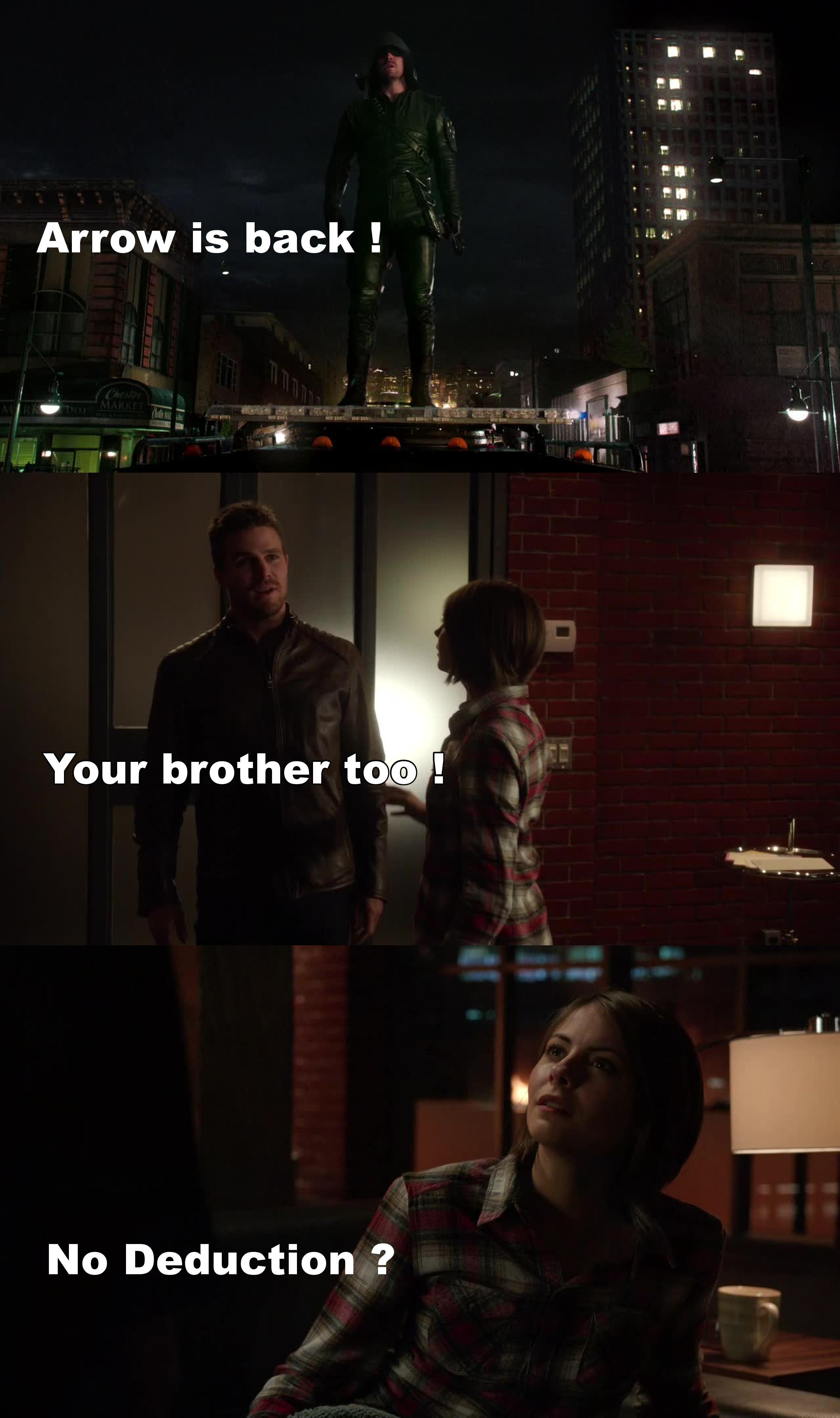 J'adore Félicity. Mais dans cet épisode, elle m'a quand même énervé...
