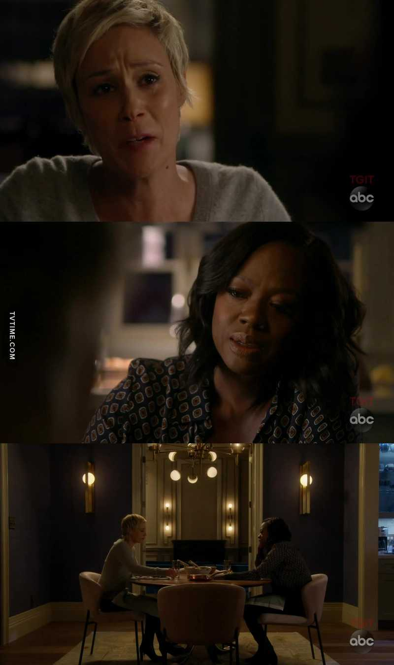 "That scene with Annalise and Bonnie made me cry. As soon as Bonnie said ""if he saw what was in my file, he'd want nothing to do with me"" the tears started coming. And then they held hands as a simple gesture of support and understanding. I loved it so much"