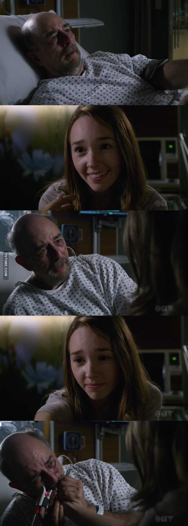Dr Glassman seeing his daughter Maddie who is dead. OH MY GOD. Tears.