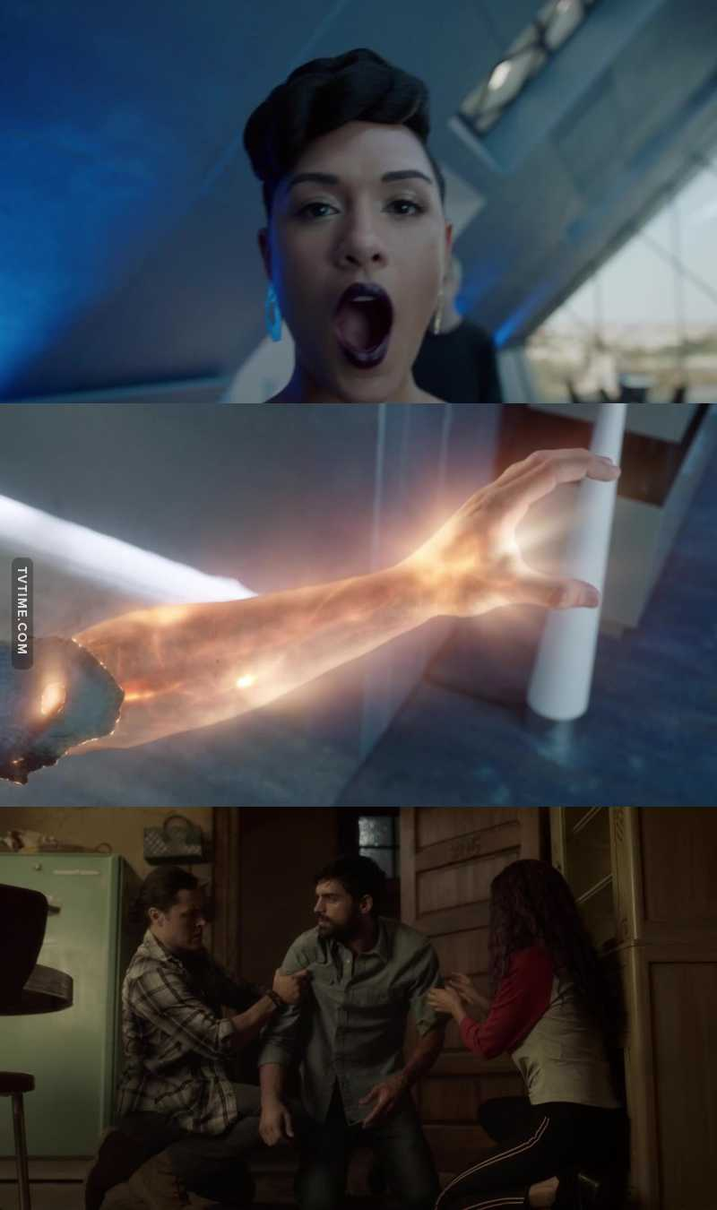I know they said that Reeva is one of the most powerful mutants, but I wasn't expecting that to happen to Marcos' arm and his powers! 😱😱