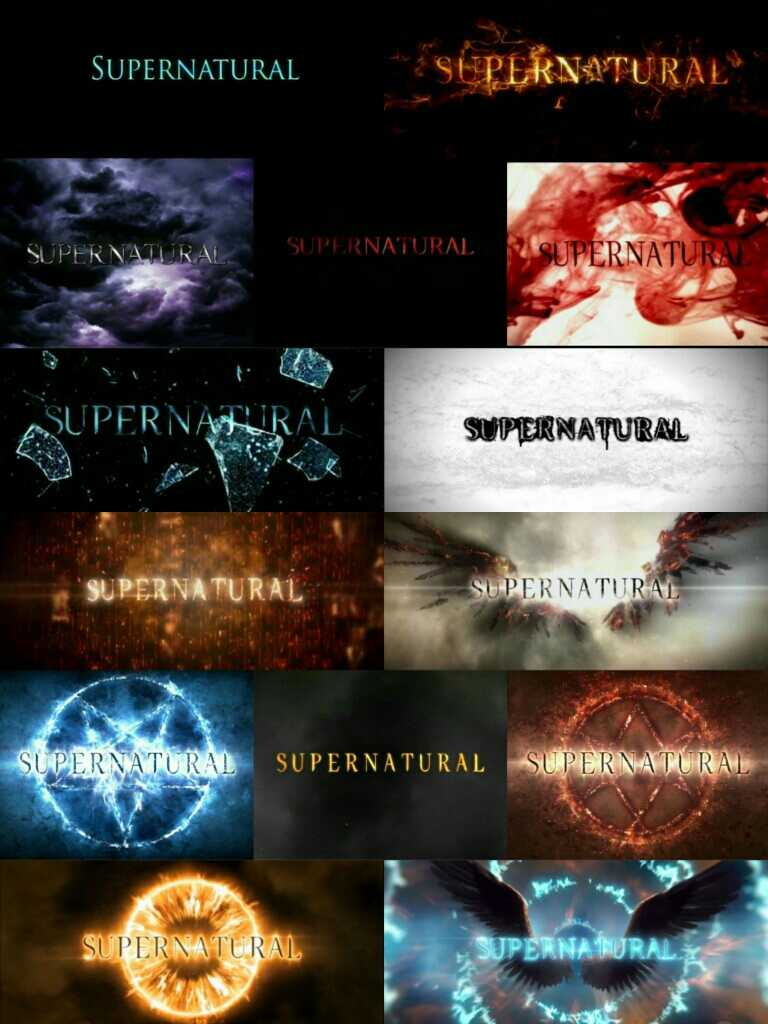 SPN opening title is everything 🙌 🖤
