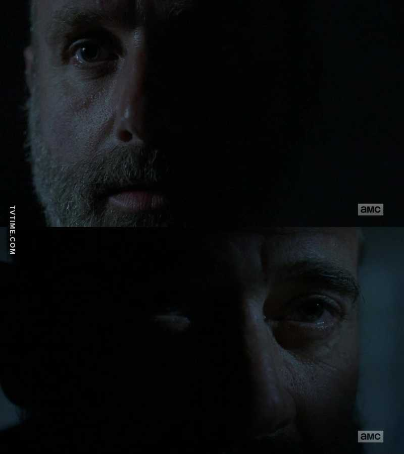 Even if he's locked up, Negan still affects Rick's choices.