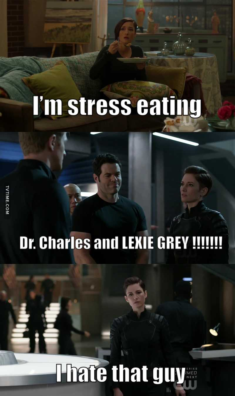 When Lexie becomes nervous she start eating 💔💔  Dr. Charles he was from MERCY west hospital and he came to Seattle grace 💔💔 Also Lexie said that she hate him💔 This's too much for me 😭😭