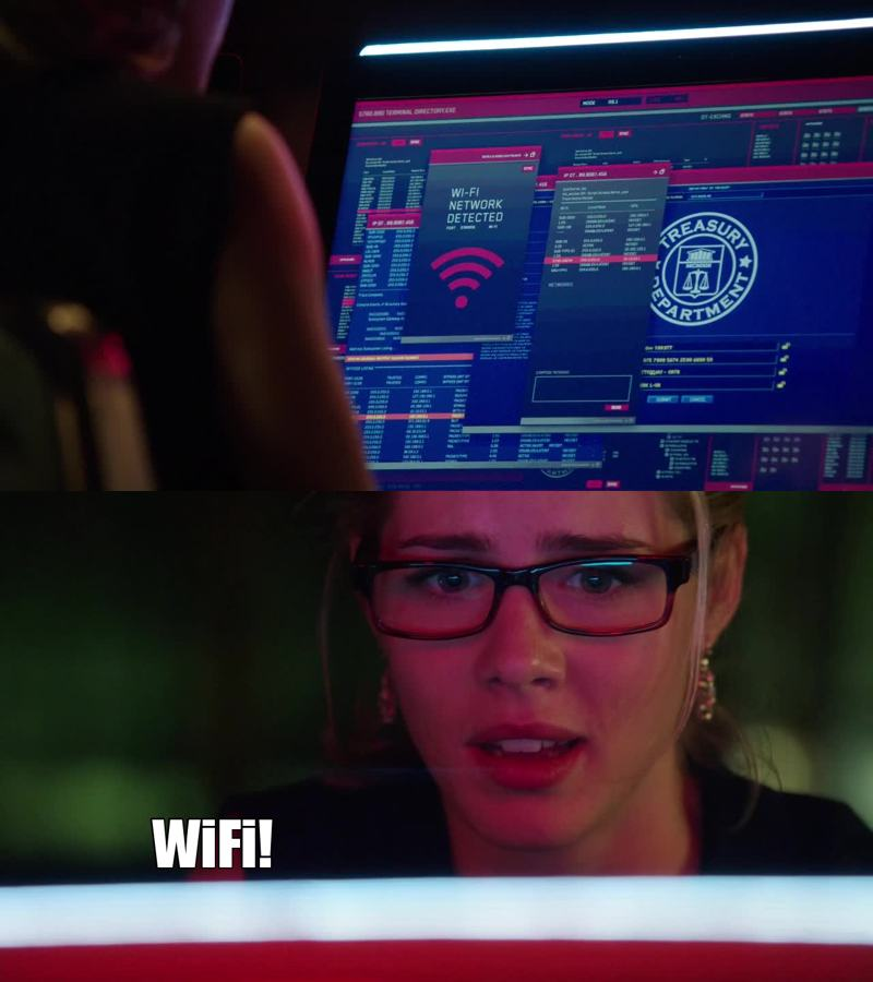 Gotta love felicity and her love for wifi