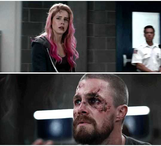 Oliver's face when he saw her. I'M IN A GLASS CASE OF EMOTION.