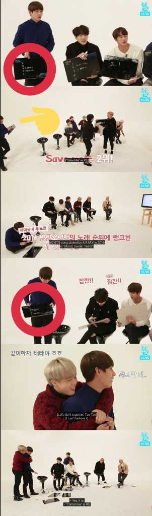 Taehyung cheated his way through the game and STILL ended up with a penalty 😂🤣  This was only one instance I caught but  panel 1. Tae has Save Me in #4 panel 2. Tae sneaks away while changing his wrong answer panel 3. Save Me are in #2 AND #4 panel 4. #4 is now blank panel 5&6. DEVASTATION  BTS cheating line LIVES 😂