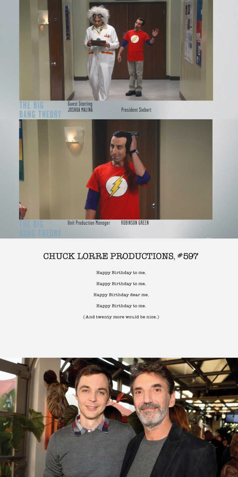 Oh my, Next episode is Halloween and Howard is dressing as Sheldon!! I'm laughing already 😂.  Oh and happy birthday to Chuck Lorre the sitcom genius mind behind all this 🎉❤️.