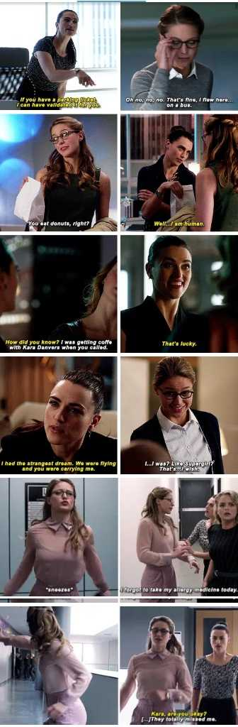 "Lena needs to know about Kara being Supergirl, but as Katie McGrath said ""How do you guys know that she doesn't know already and she's just playing along to keep Kara happy?"" I mean, there are so many moments Lena could have find out."
