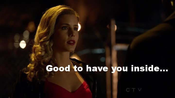 Felicity, félicitations pour ressentir si bien Oliver en toi... (Indispensable à la série, so cute !)