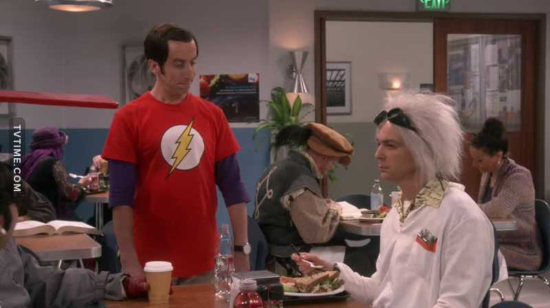 Sheldon may be for most folks myself included, the main reason to watch the show but Howard's impersonation of him was on the money & very funny.