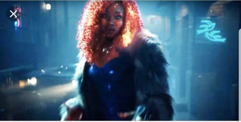 STARFIRE IN THE TV SHOW IS PERFECT THE WAY SHE IS. SHE DOESNT HAVE TO CHANGE THE COLOR OF HER SKIN PERIOD.