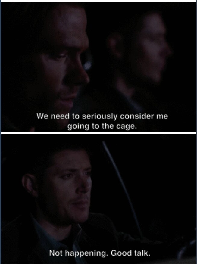 I love when Dean is overprotective about Sam 😍