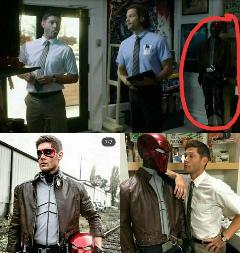 well played supernatural, sneaking the Red Hood in knowing full well Jensen played that character