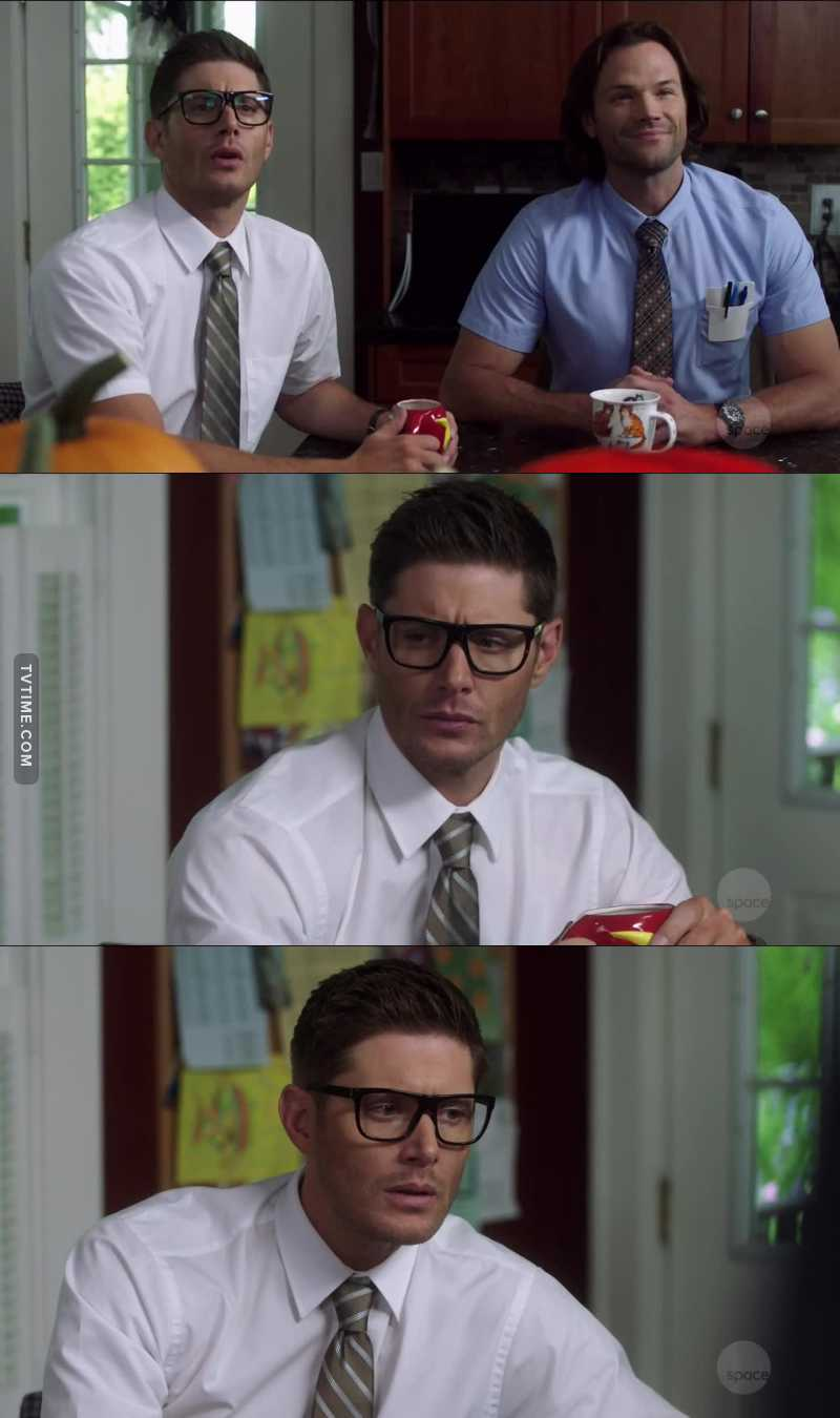 Dean with glasses is adorable  😇