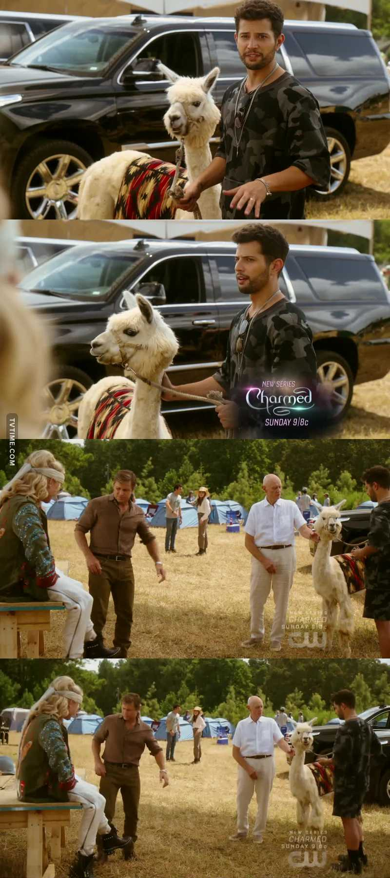 Sam and the alpaca 😂 favourite scenes of the episode. I love how Anders pets the alpaca.