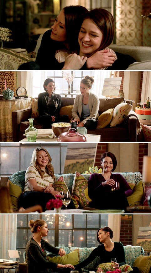 The Danvers sisters on the couch having sisterly moments is what we all love