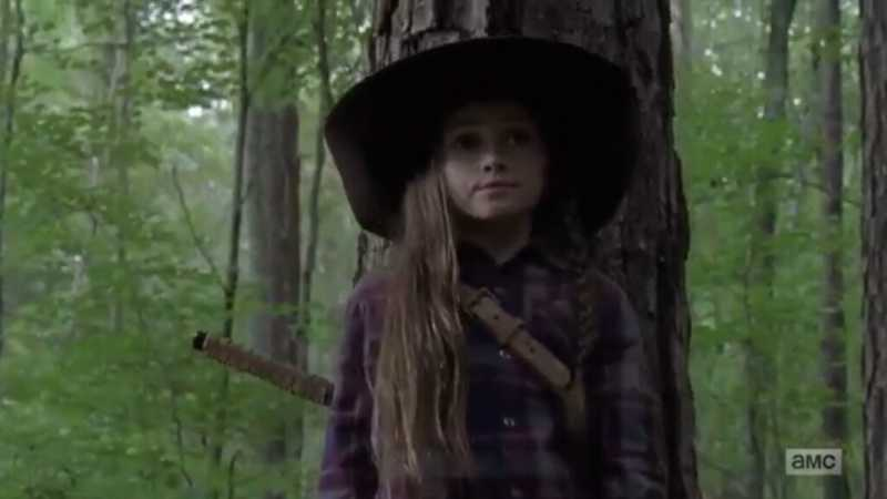 "Me: once Rick dies I'm never watching this show again Judith: ""Judith, Judith Grimes"" Me: I NEED THE NEXT EPISODE NOW  The hat, the sword, the gun... LOVE HER!!"