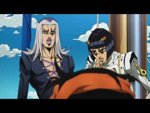 Awesome, we got Abbacchio and his Stand, Moody Blues this episode. The mystery thickens!  Thought the episode was pretty cool with the unique nature of that Stand. I loved the mind games between him and Giorno too on that boat. Abbacchio made the episode incredibly entertaining to me with his personality too.  Also really impressed at how well they animated the fight scenes. Can't wait for the next episode.