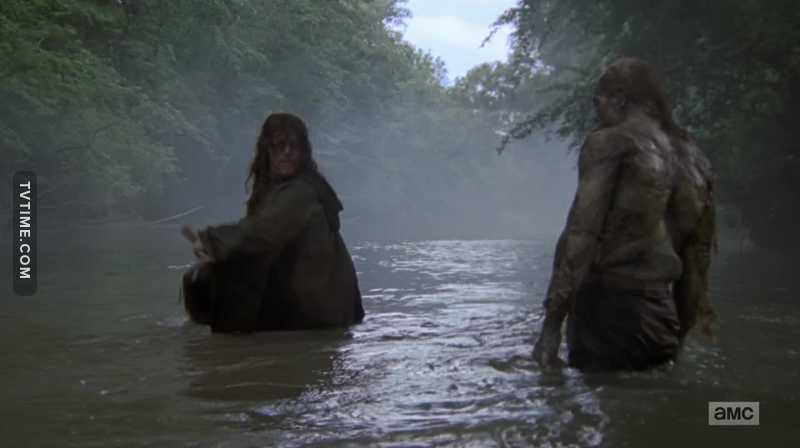 Fun Fact :- Daryl took a bath in Season 6.
