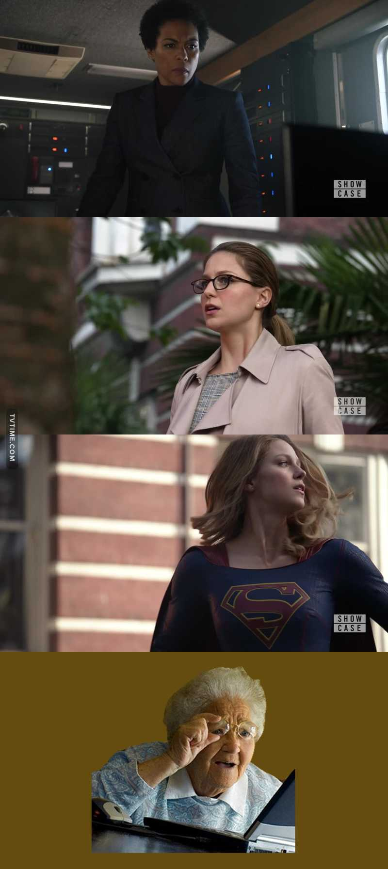So the Colonel recognizes Supergirl/Kara's voice through the earphone but Lena doesn't.  ARE YOU FUCKING KIDDING ME?  SHE OBVIOUSLY KNOWS.