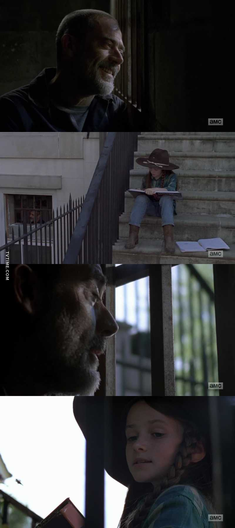 Negan: wait a minute where you going ? I thought you wanted my help  Judith : i do, but just for math  Negan: why just math ?  Judith : because it's doesn't matter if you're a good or bad person on the inside. The numbers don't care.     HAHHA i laught so hard  This is JUDITH FUCKING BADASS GRIMES   I want more !