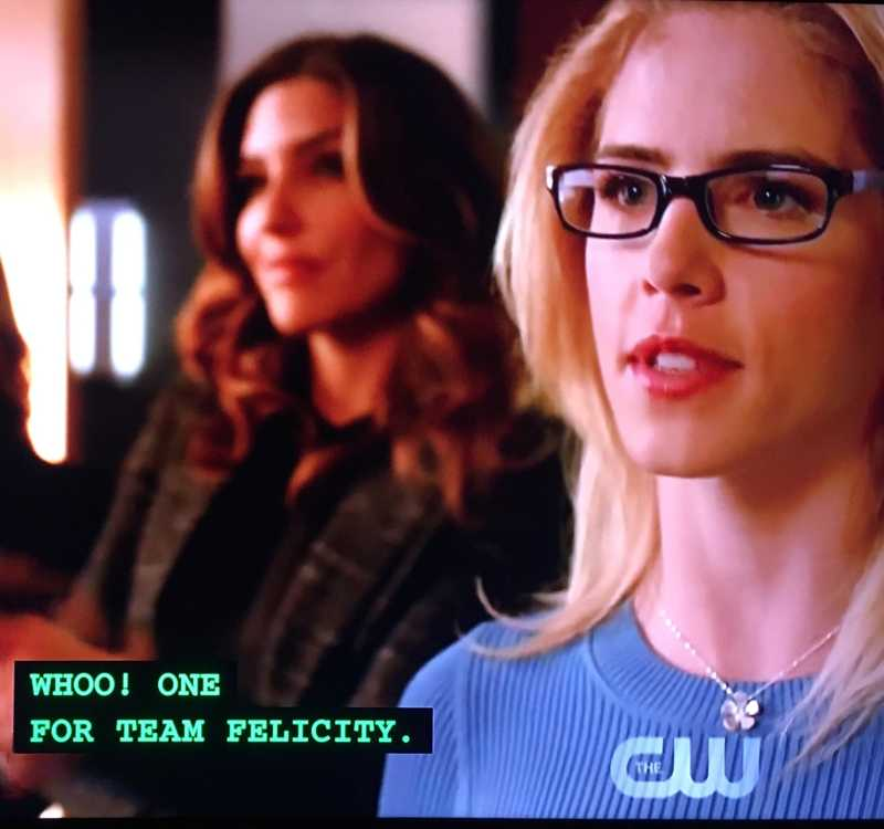 Team Felicity. Sounds about right.