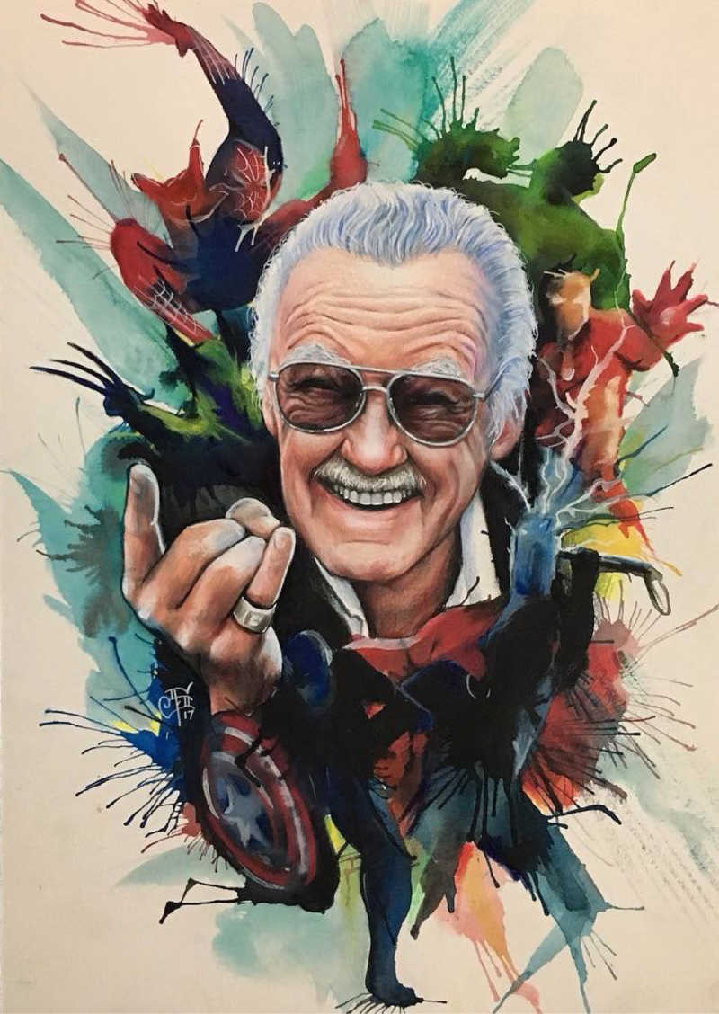 Thank you for all the legend.  R.I.P Stan Lee #Excelsior #StanLee #Marvel 😔😭💔