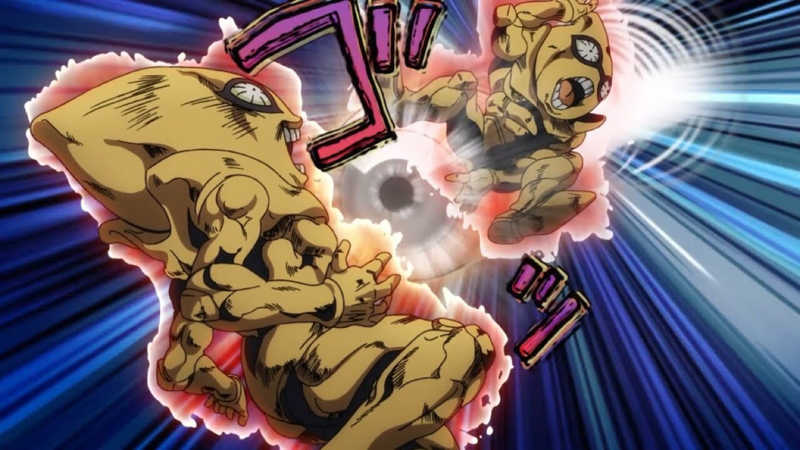 Great episode The scene with Sex Pistols kicking the bullet was also really freek'n good.  I'm pretty confident this will be the best anime adaptation of JoJo yet, everything about it has been pretty superb so far, the art style, the animation, the sound design, the colors, and everything else that they have added. It's a good year to be a JoJo fan. Can't wait for the next episode.